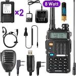 Ham Radio Walkie Talkie (UV-5R 8-Watt) UHF VHF Dual Band 2-Way Radio