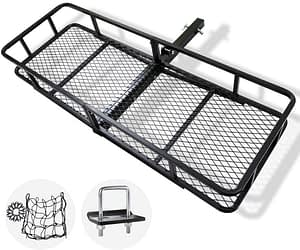 hitch mount cargo carrier for camping