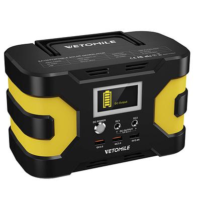 VETOMILE 166W, 45000wAh Portable Solar Generator